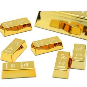 6pcs Gold Brick Shaped Fridge Magnet Souvenir Birthday Gift Luxurious Refrigerator Stickers For Tips Home Decor Koelkast Magneet