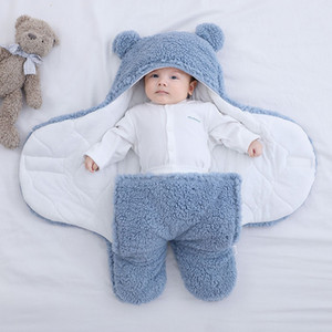 Newborn Baby Winter Warm Sleeping Bags Bedding Blanket Sleep Bag Boys Girls Blanket Wrap Double Layer Fleece infant W1218