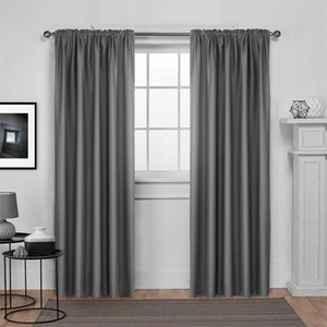 High Shading Grey Blackout Curtains for The Bedroom Living Room Curtain Drapes Window