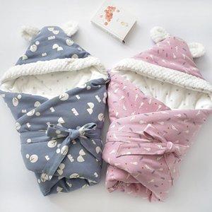 Baby Discharge Envelope for Newborns Cotton Cartoon Blanket For Kids Soft Warm Wrap For Baby Girl Boy Sleeping Bag 80x80cm 201022