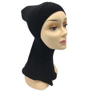 2020 Muslim stretch Turban cap Full Cover Inner Hijab Caps Islamic Underscarf Bonnet Solid Modal Under Scarf caps turbante mujer