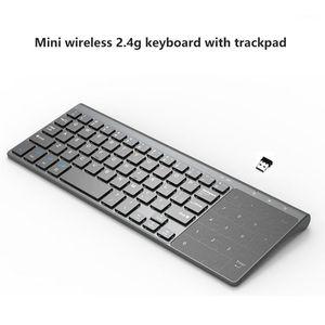 Мини Беспроводная клавиатура с цифровой сенсорной панелью для ноутбука ПК ТВ ультратонкий USB Беспроводная клавиатура Многоязычный бесплатный коммутатор1