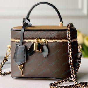 Sacs à main en cuir sacs à main de haute qualité, lettre florale sacs à main pour femmes Sacs à bandoulière cosmétique Boîte cosmétique Venez des boîtes de 17x22cm