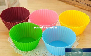 Silica Gel Liners Baking Mold 7cm Silicone Muffin Cup Baking Cake Eco Friendly Cupcake Bakeware