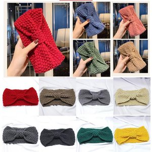 11 colors Knitted Crochet Headband Women Winter Sports Hairband Turban Yoga Head Band Ear Muffs Beanie Cap Headbands Party Favor