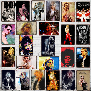 Rock Music Guitar Vintage Metal Tin Sign Wall Bar Cafe Store Home Art Craft Decor 30X20CM Modern Poster Wall Art Picture
