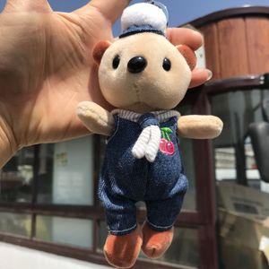New creative cute navy bear plush toy pendant bag pendant keychain birthday gift