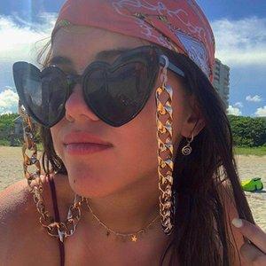accessori Nuovo Hip Hop Gold Chain punk di modo semplice metallo rettifica catena occhiali spessi catena di gioielli chain018 modo delle donne degli uomini
