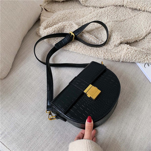 Stone Shoulder Vintage Leather Pattern Crossbody For Women Bags Cc Messenger Lady Handbags And Saddle 2020 Small Bag Purses Fvsov