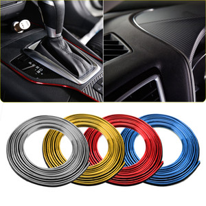Car Styling Interior Parts Stickers Decoration Line Strip Moulding Trims Car Door Dashboard Air Outlet Steering For Auto