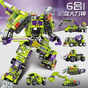 King Kong 6-in-1 becomes a machine-armoured Building-block Toys Compatible with inglys DIY Educating Children Christmas Gift