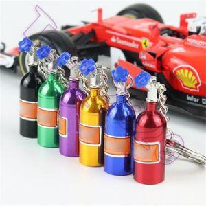 2020 NOS Turbo Nitrogen di bottiglia della catena chiave del metallo del supporto di chiave Anello gioielli Portachiavi Ciondolo auto per le donne gli uomini Unico Mini portachiavi