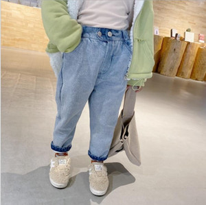 2020 new arrival girls boys denim long pants autumn winter fashion kids jean pants 2-7t YT56