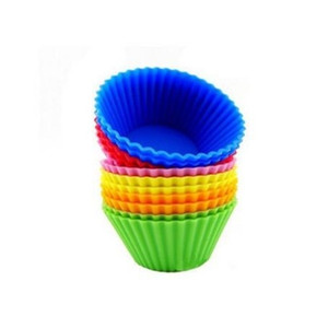 Silicone Muffin Cupcake Cup Cake Mould Case Bakeware Maker Mold Tray Baking Jumbo