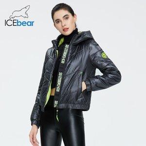 İcebear Kadınlar bahar parka moda kadın ceket yüksek kalite kukuletalı marka giyim GWC20067I 201014