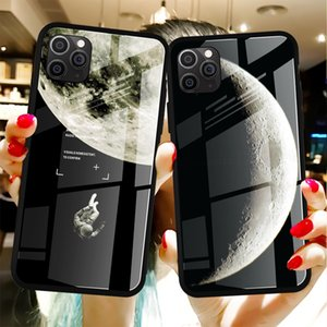 Cool Space Tempered Glass Case für iPhone 11 12 PRO MAX XS Mini Moon Star Cover für iPhone 6s 7 8 PLUS X XS MAX XR SE 2020 Hüllen