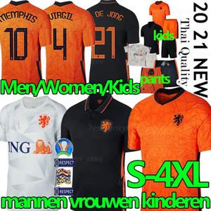 2020 2021 هولندا لكرة القدم بالقميص قميص F. DE JONG هولندا لكرة القدم VAN DIJK فيرجيل camisas دي futebol من الرجال والنساء kitsuniforms طفل