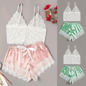 Women Lingerie Breathable Sexy Corset Lace G-sting Underwire Racy Muslin Sleepwear Thong Underwear Frill Tops+Briefs Set