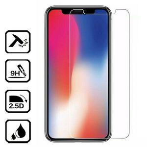 Protecteur d'écran en verre trempé Film Garde 9H Dureté Explosion Anti-Scrath Film transparent pour iPhone 5 6 7 8 X XR 11 Pro Max 12 Sans boîte