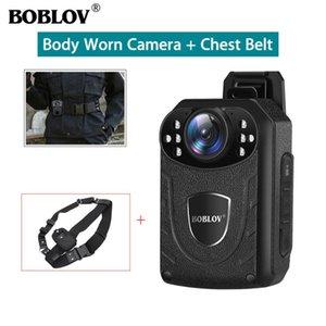 Boblov KJ21 الجسم كاميرا ترتديه مع كاميرا الصدر حزام 1296P DVR فيديو الأمن كاميرا الأشعة تحت الحمراء للرؤية الليلية لبس البسيطة كاميرات الفيديو الرقمية