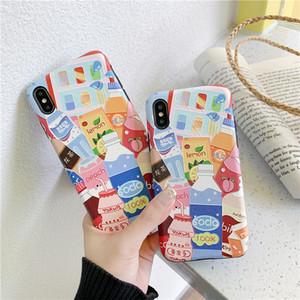 Холодный напиток летом Подходит для Oppo / Vivo / Huawei Случай мобильного телефона шелкового Relief R7 / X23 Красочный мультфильм P40p
