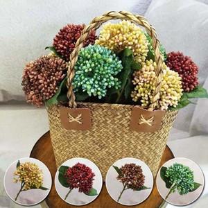 30 cm Yapay Berry Çiçekler Buket Yapay Meyve Bitki Yaprak Açık Oturma Odası Düğün Dekor Acacia Fasulye Sahte Çiçekler