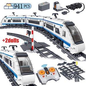 941 шт. Электрическая Гармония Гармония высокоскоростных железнодорожных строительных блоков RC Technic Car Train Track Bricks Фигурки игрушки для детей x0102