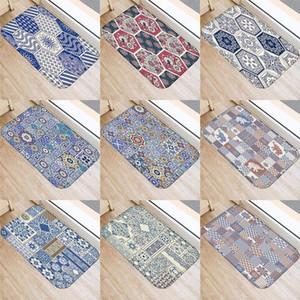 Flower Mandala Floor Mat Entrance Doormat Floor Rug Anti-slip Door Mat Bathroom Kitchen Kitchen Carpet Home Decor 60*40cm