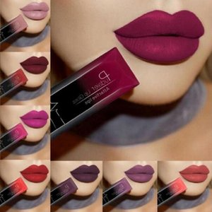 2020 Hot Waterproof Liquid Lip Gloss Metallic Matte Lipstick Cosmetic Sexy Batom Mate Lip Tint Makeup Lasting 24Hours Mate Levre