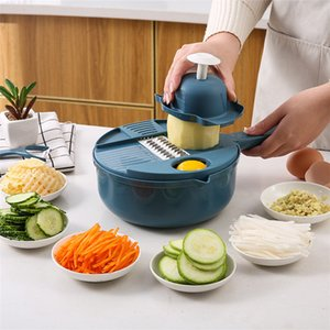 Vegetable Mandoline Slicer -Vegetable Spiralizer Cutter and Shredder - Kitchen Multipurpose Salad Chopper with Guard and Egg white Separator