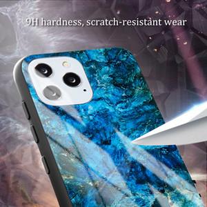 Protección de la lente Anti Cotters Peeping Moda de mármol de mármol de vidrio templado adecuado para teléfono móvil Absorción magnética para iPhone 11 Pro Max XR x XS 6 7