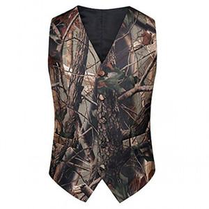 2021 Country Style Camo Boy's Office Trage Camouflage Westen für Hochzeitsfeier Kinder Jungen (Weste + Krawatte) Formale Trage Sonderanfertigte Reale Bild