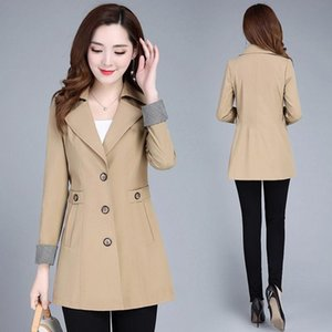 Trench Women Spring And Autumn Thin Mother Fashion Middle-aged Western Style Jacket Plus Size L-5XL Women Windbreaker