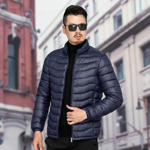 E-Baihui Осень и зима новый Мужские ветровки Тонкий стоячий воротник Теплый вниз Padded Jacket Short Outer Wear Jacket Men