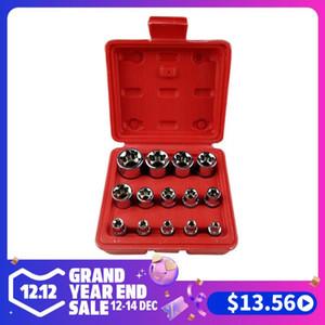 14Pcs set Female E Type Bit Sockets Wrench Head E4 - E24 1 4