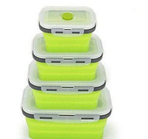 500ml Sile Collapsible Lunch Box Food Storage Container Bento Bpa Free Microwavable Portable Picnic Camping Recta bbyQni yh_pack