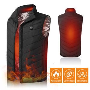 Men Electric Heating Vest Lightweight Winter Warm Waistcoat USB Charging Jacket Heated Vest Thermal Coat Hiking Camping Fishing8
