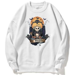 Nightmare Before Christmas Print Hoody Womens Personality Fashion Sweatshirt Vintage Fleece Hoodie Autumn Casual Women Clothes