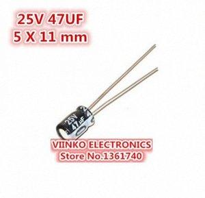 الجملة خالية من الشحن 1000PCS 47UF 25V 5X11mm كهربائيا المكثفات 25V 47UF 5 11MM * الألمنيوم كهربائيا المكثفات eyWt #