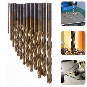13pc lot HSS High Speed Steel Titanium Coated Drill Bit Set 1 4 Hex Shank 1.5-6.5mm High Quality Electric Drill Tool Accessories Ujla#