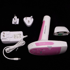 Indolora del hogar portátil de depilación láser IPL permanente del pelo de la máquina de afeitar Cara Cuerpo Epiladoras Kit Ajh4 #
