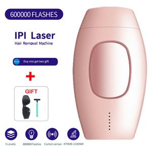 IPL Épilation laser Depilator permanente 600000 Flash avec corps LCD tactile Leg Bikini Trimmer Photoepilator pour les femmes