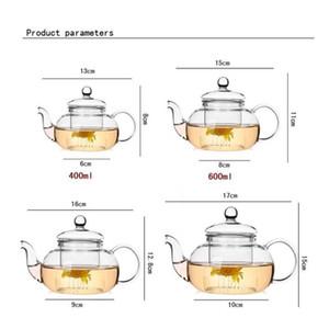 High Quality Heat Resistant Glass Flower Tea Pot,practical Bottle Flower Teacup Glass Teapot With Infuser Tea bbyEuZ bdesports