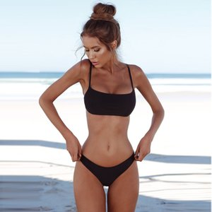 Women Bandeau Bandage Bikini Set Push-up Brazilian Swimwear Beachwear Swimsuit Bikinis 2021 Mujer