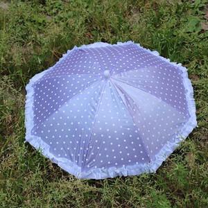Yada portatile Capo Hat Umbrella Pesca Caps Dot Lace Umbrella Sport Cap bambina nata bambole fatte a mano scoperta Ombrello Yd153 bbyrLN
