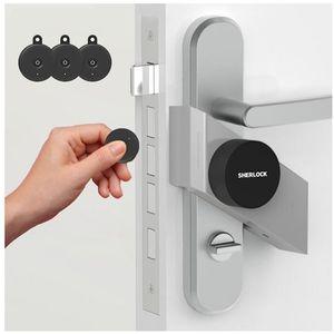 Smart Door Lock Home Keyless Lock 4 Key مع Sherlock S2 Lock Smart Wireless App التحكم في الهاتف للمنزل 201013
