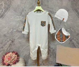3Pcs set Newborn Baby Girl Romper + Bib + Hat Baby Boy Jumpsuit Clothes Cotton Underwear Rompers Clothing Baby Rompers Costume