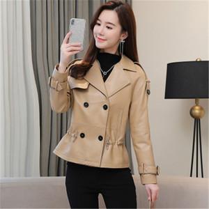 2020 mulheres de Moda de Nova Genuine real Sheep Couro Jacket R45