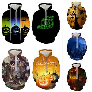 Bester Halloween lustiger 3D-Druck Herren ziehen Hoodies Herren Designer Pullover Casual Unisex Winter Sweatshirts