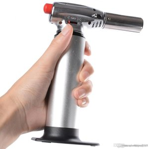 Wholesale 1300C Butane Scorch Torch Jet Flame Kitchen Torch Giant Heavy Duty Refillable Micro Culinary Torch large flame DHL FREE